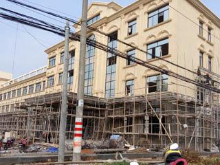 廠房結構改造進行中-全景